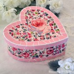Paper Mosaic Heart Box