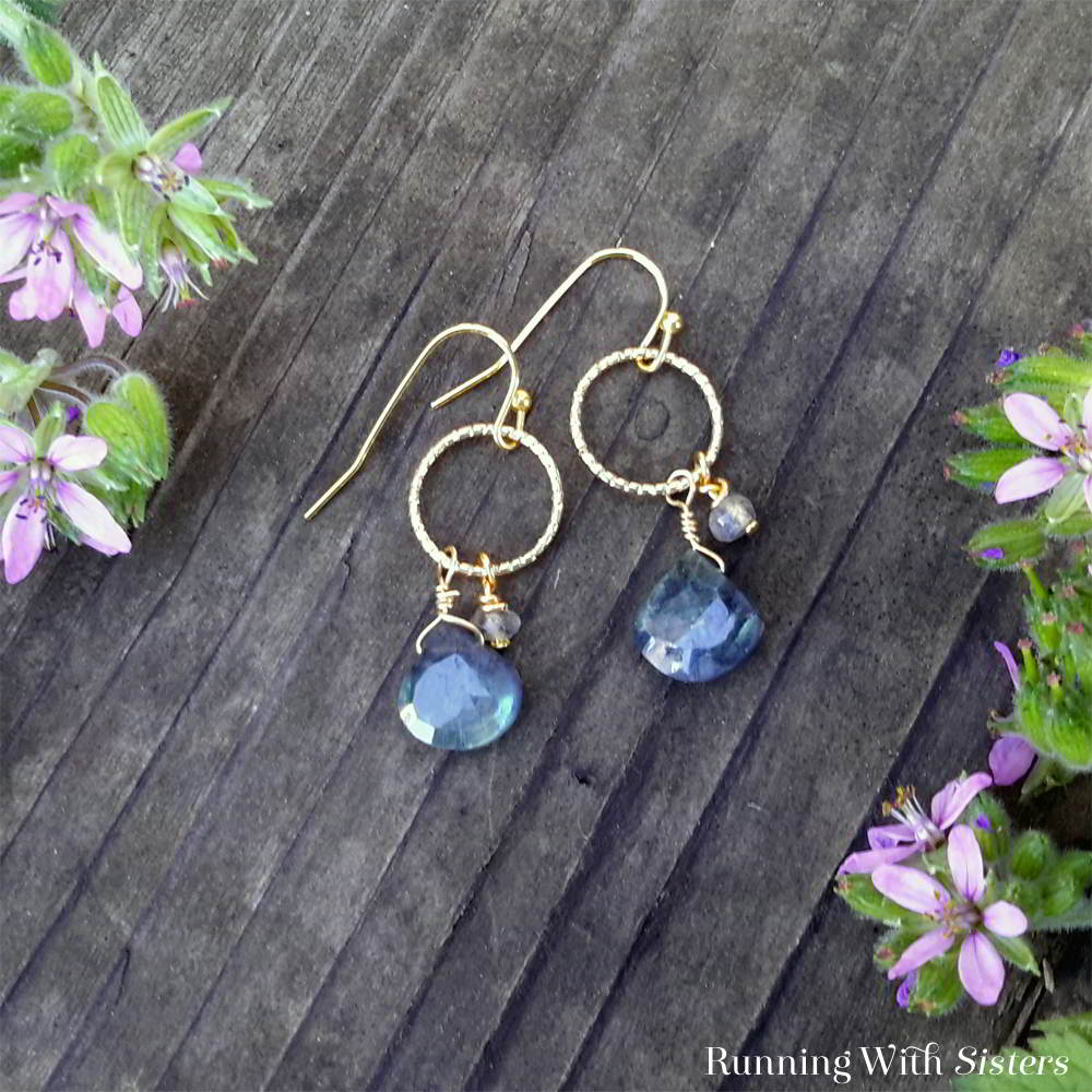 Learn To Make These Easy Gemstone Earrings Using A Little Wirework And Briolette Labradorite Gems