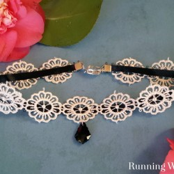 Make an easy choker from ribbon and trim. In this jewelry making tutorial, we'll show you how to assemble the choker, attach crimp ends, and add a clasp.