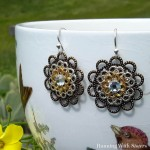Filigree Rosette Earrings