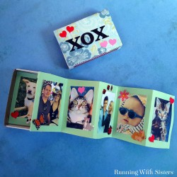 Make a Matchbox Mini Scrapbook! The matchbox has a built in little drawer to tuck the mini scrapbook into. Great Mother's Day gift!