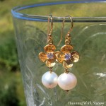 How To Make Flower And Pearl Earrings