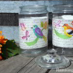 How To Decoupage A Glass Jar With Mod Podge