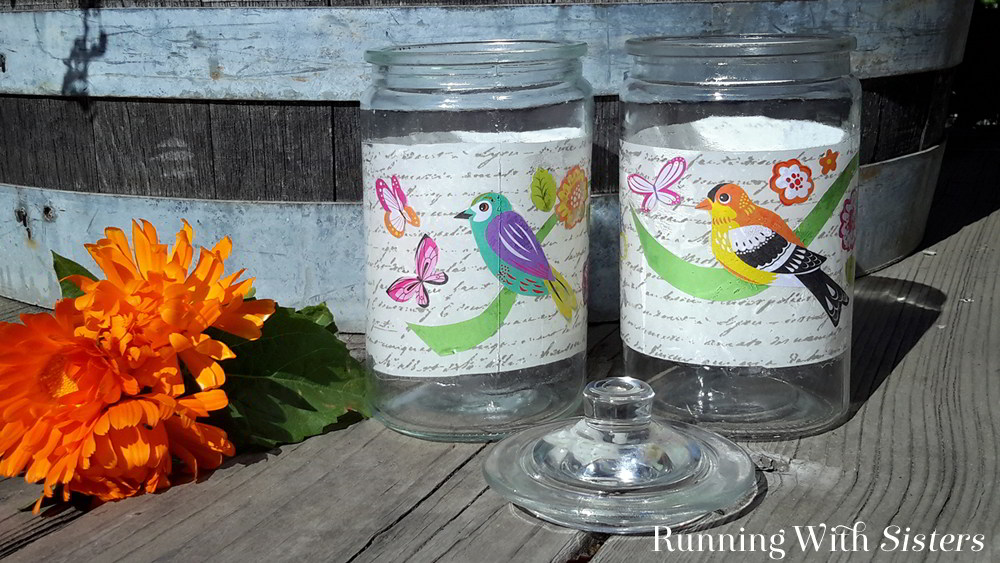 How To Decoupage A Glass Jar With Mod Podge , Running With