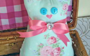 How To Make A Calico Cat Pillow Doorstop
