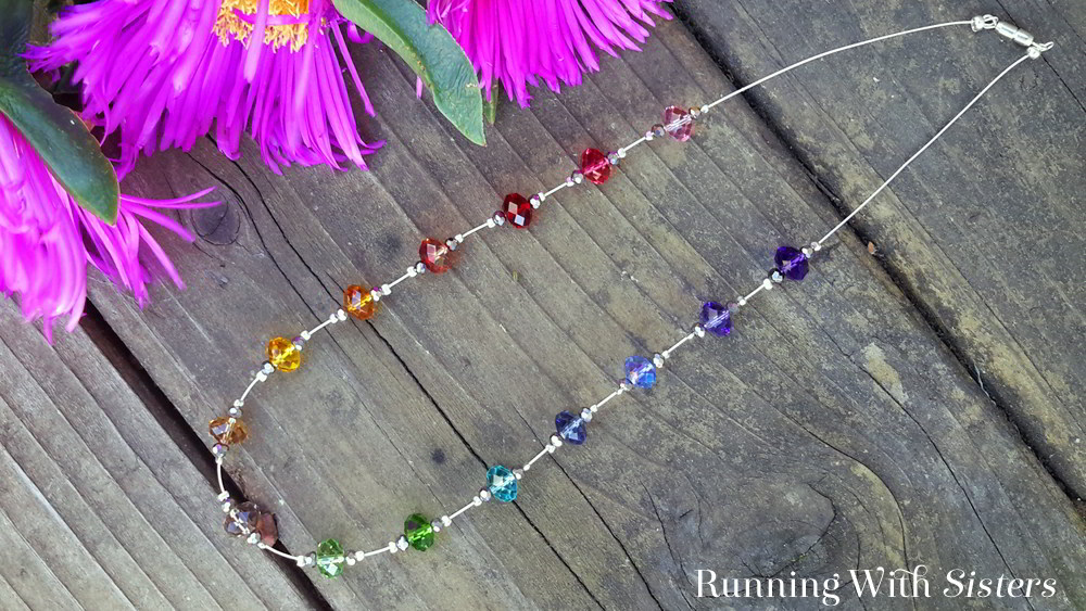 Make a Crystal Rainbow Necklace. We'll show you how to use crimp beads to make the crystals look like they are floating. Watch our video tutorial!