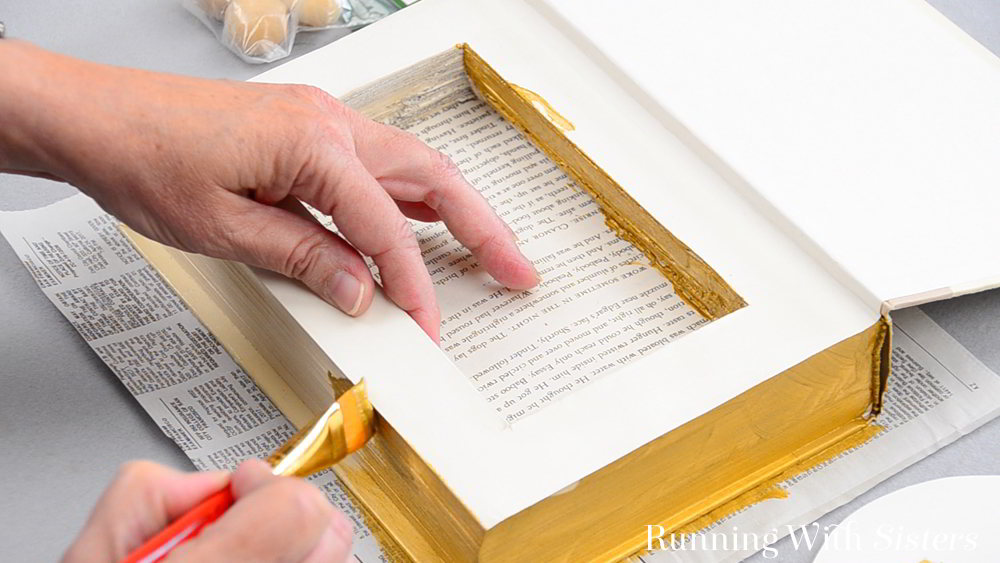 How To Turn A Hollow Book Into A Jewelry Box Running With Sisters
