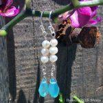 Wirework Jewelry Tutorial: Crystal Teardrop & Pearl Earrings