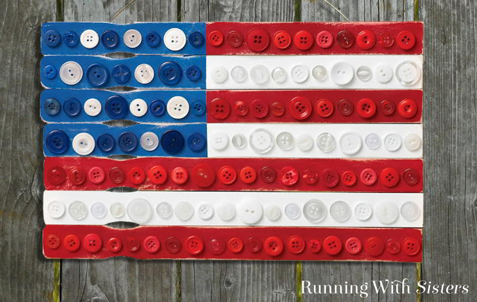 In this craft tutorial, we'll tell you how to assemble your own folk art flag from paint stirrers, craft paint, and red, white, and blue buttons.