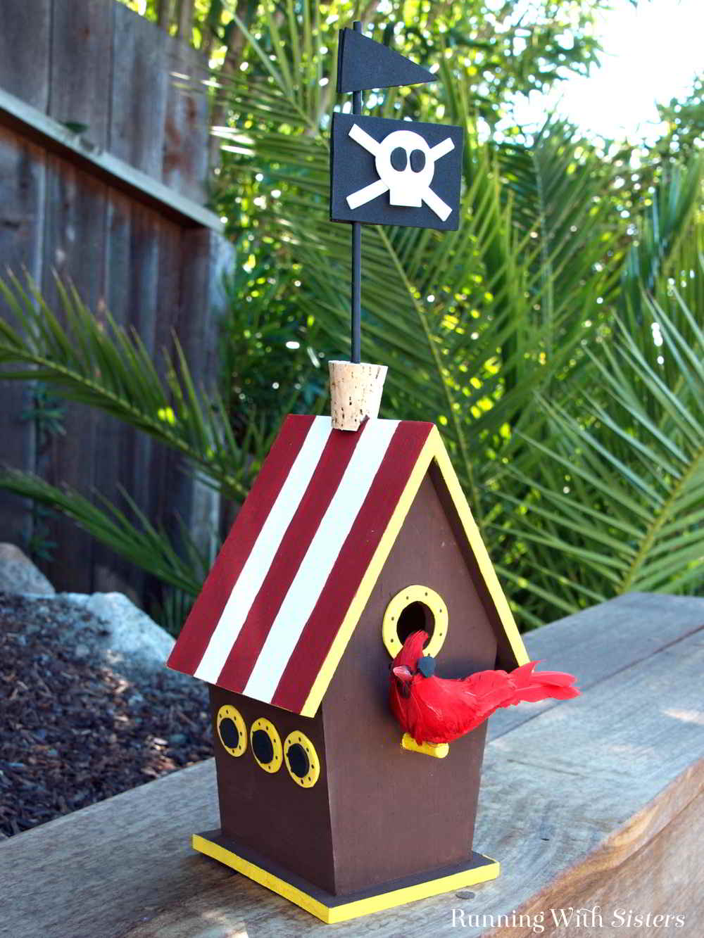 Turn a wooden birdhouse into a Pirate Ship Birdhouse cool enough for Jack Sparrow. In this fun kid craft we'll tell you how!