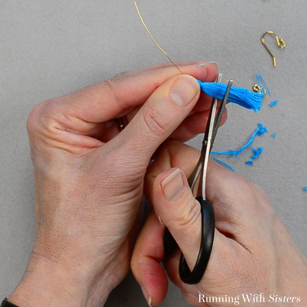 Make your own tiny tassel earrings. In this jewelry making tutorial we'll show you how to make the tassels and turn them into earrings!