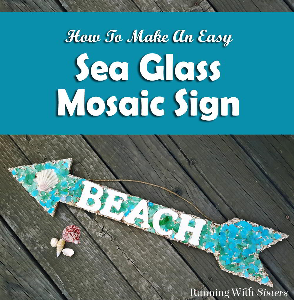 Make a mosaic sign using sea glass and wooden letters. In this video tutorial, we'll show you how to apply the adhesive, letters, and seaglass. Great mosaic project for beginners!