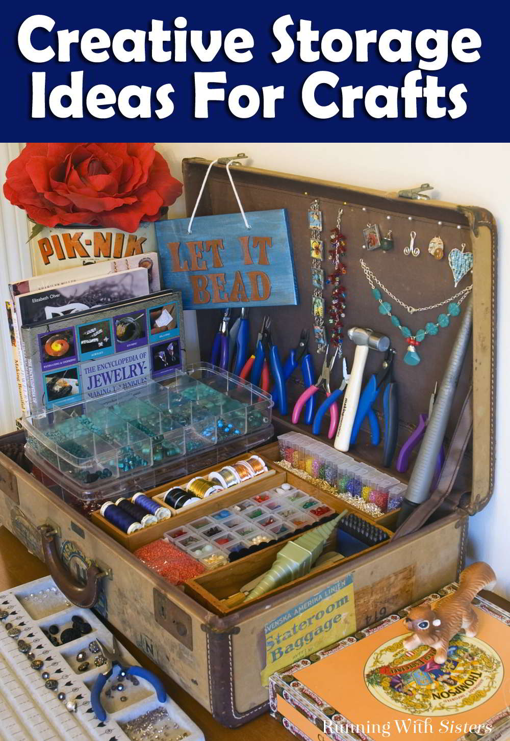 Fun and creative storage ideas for crafts! Craft materials are so pretty, why hide them? Plus seeing your craft supplies will inspire you to get creative!