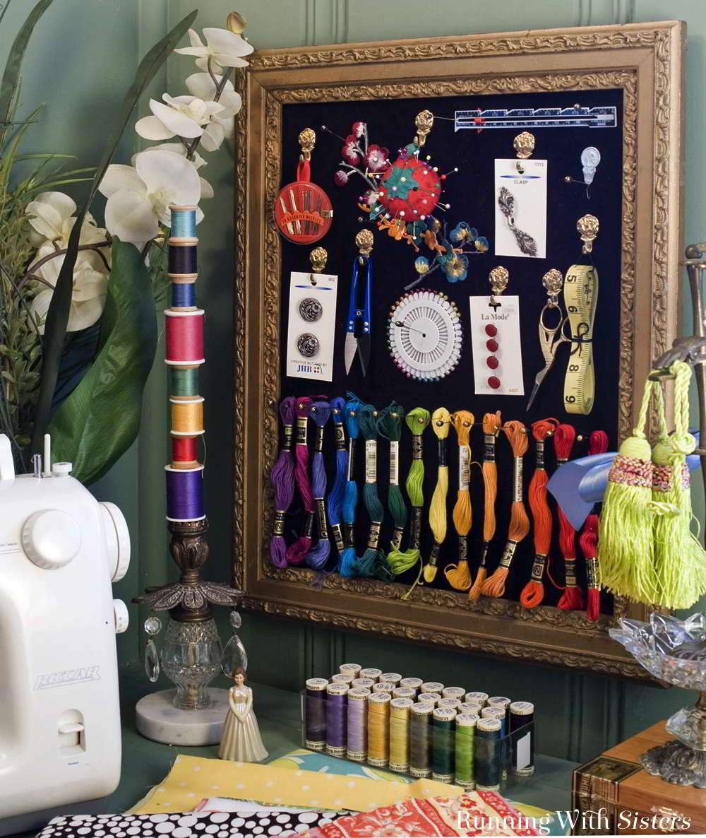 Organize and store your crafts with flair! Get inspired to get organized with creative craft storage ideas!