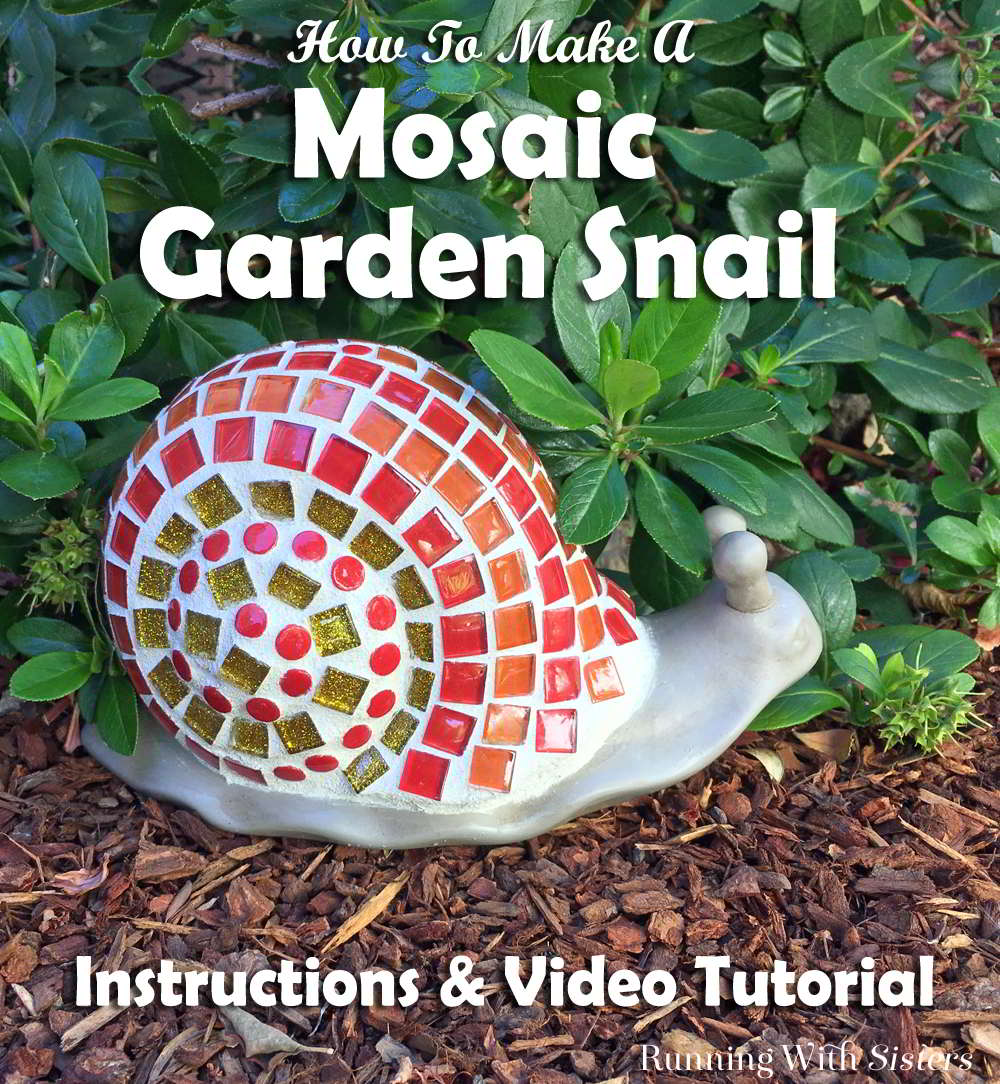 Turn a store bought garden snail into a mosaic garden snail! We'll show you how to apply the tiles and mix the grout! Complete video tutorial!
