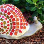 Garden Mosaic: Mosaic Garden Snail