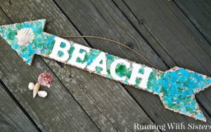 Easy Mosaic Project: Sea Glass Mosaic Sign
