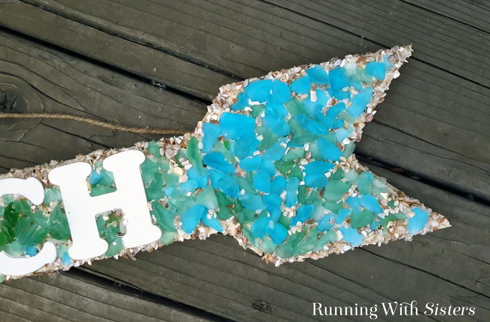 Easy Mosaic Project: Sea Glass Mosaic Sign - Running With