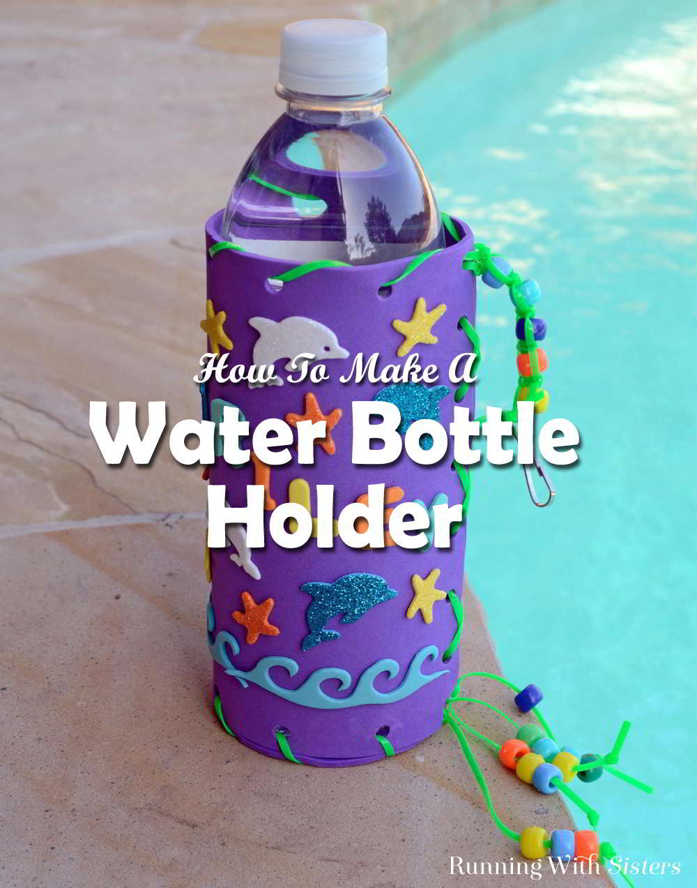 Here's a fun kid craft! Make a clever water bottle holder then decorate it with your name and creatures from the sea. Here's how to do it!