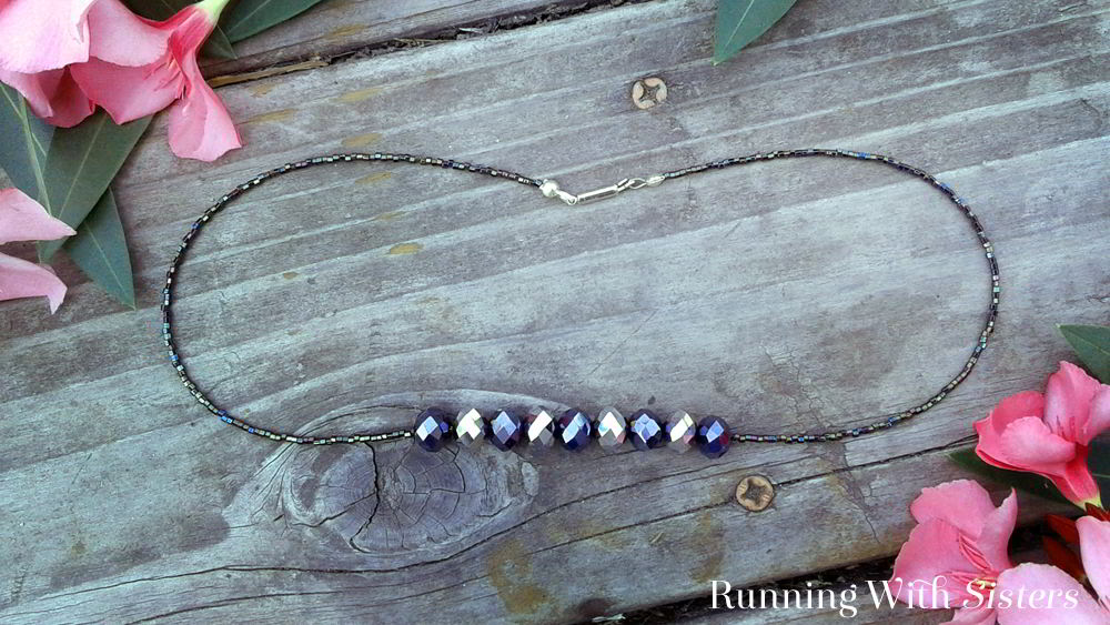Make an elegant beaded necklace fancy enough for a night out. In this bead stringing tutorial, we'll show you how to add the beads and put on the clasp.