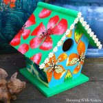 Mod Podge Project:  Fabric Covered Birdhouse