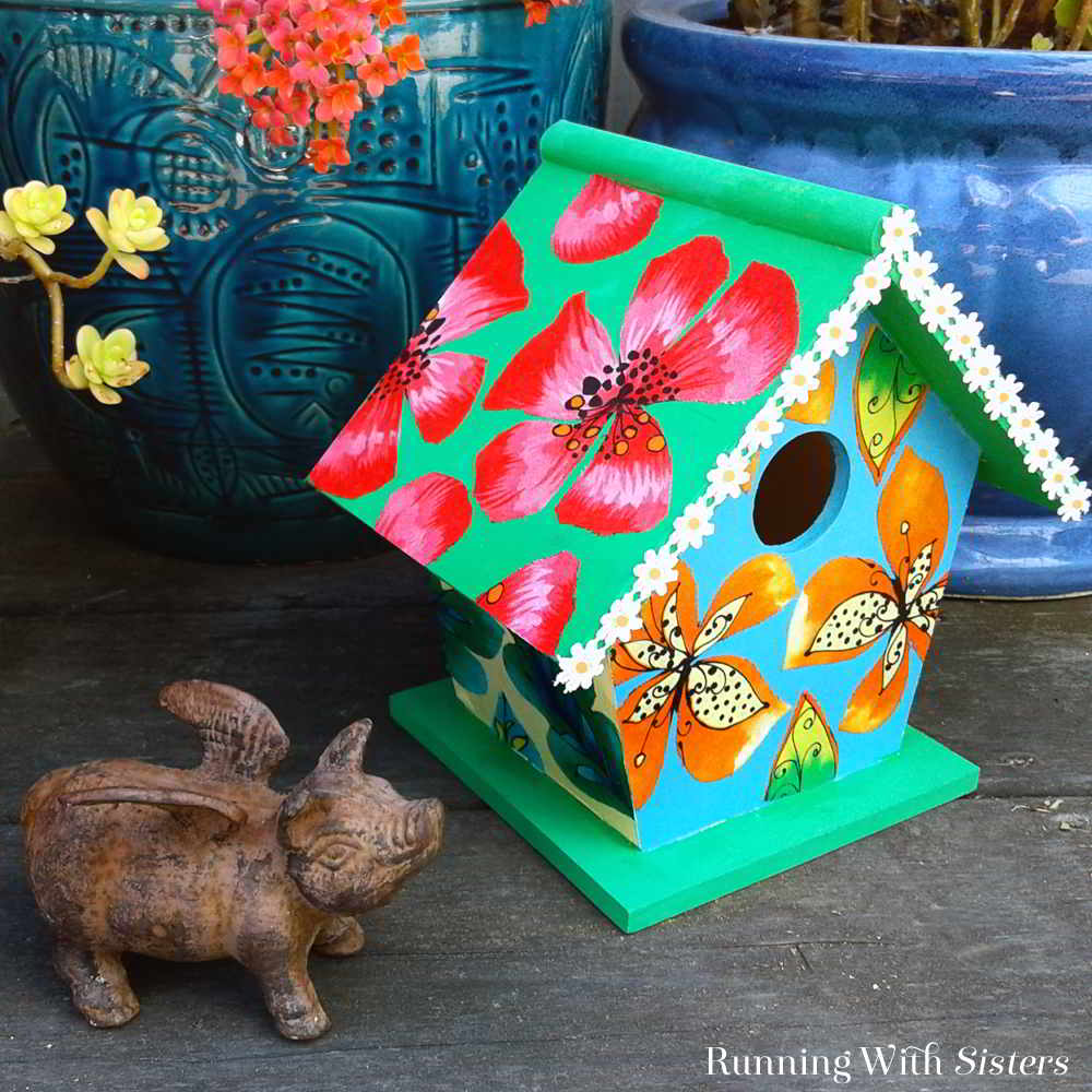 Transform a wooden craft birdhouse with fabric and Mod Podge. We'll show you how with this video tutorial for a Fabric Covered Birdhouse.