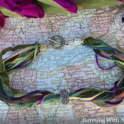 Make a super easy and fast ribbon choker using ribbon scraps and a pandora bead. This video tutorial will show you every step.