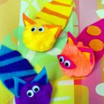 Kid Craft! Pompom Cats