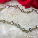How To Make A Crystal And Wire Mesh Necklace