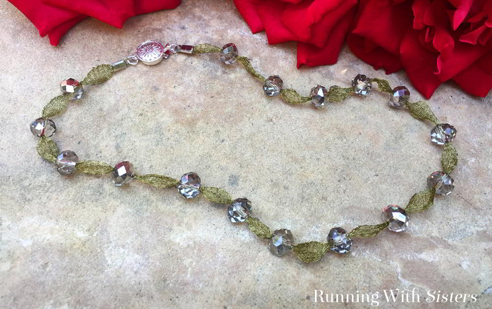 Make a wire mesh necklace using Wire Lace and crystals. We'll show you every step in this written and video tutorial. It's easy and looks great!