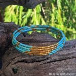 How To Make A Bugle Bead Memory Wire Bracelet
