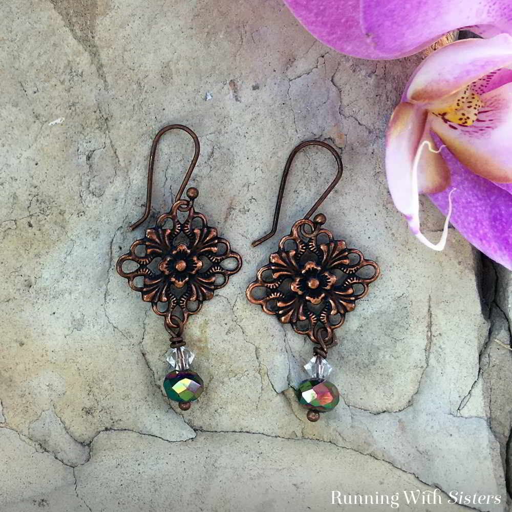Learn to make Copper Filigree Earrings using vintage style filigrees. In this video tutorial, we'll show you how to make the earrings from start to finish!