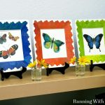 Add Color With Decoupaged Butterfly Plates