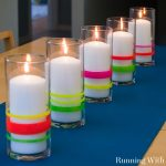 Neon Lights Dollar Store Candle Holders