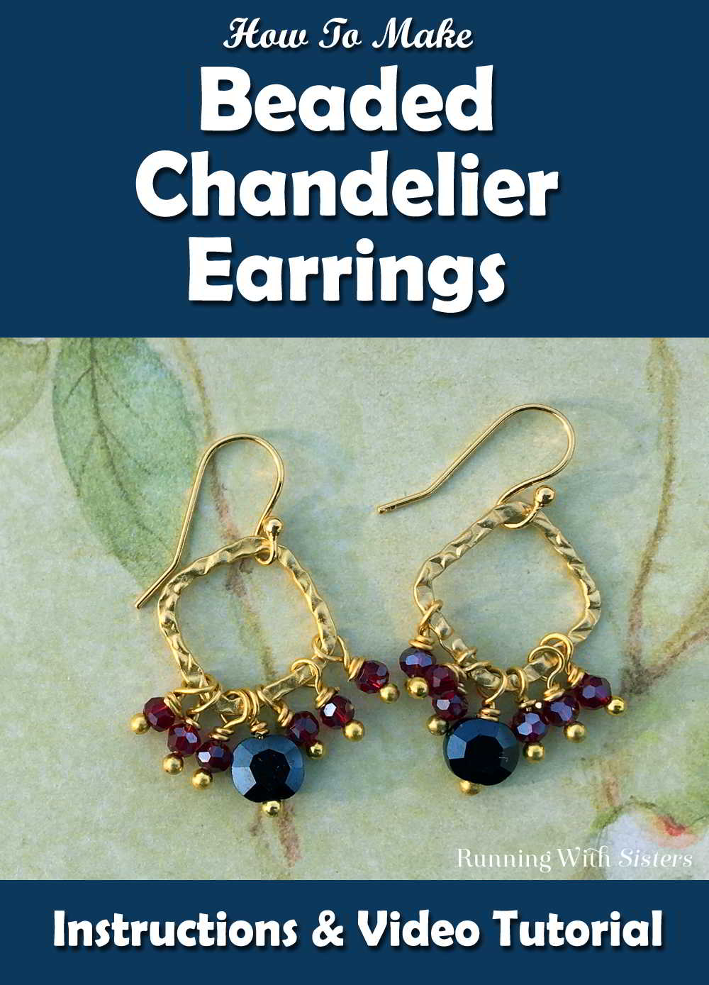 How to make beaded chandelier earrings running with sisters learn to make these pretty beaded chandelier earrings in this video tutorial well mozeypictures Choice Image