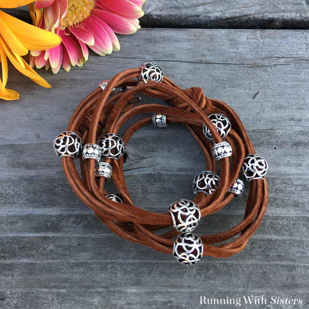 Learn To Make This Trendy Boho Leather Wrap Bracelet We Ll Show You Every