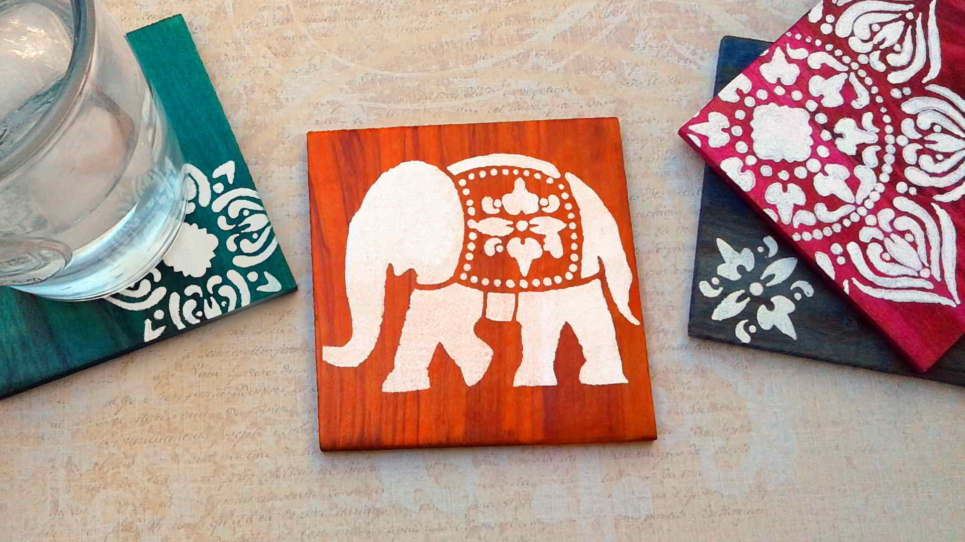 Diy Coasters Dyed And Stenciled Coasters Coasters