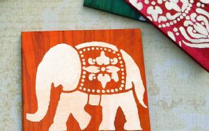 DIY Coasters: How To Make Dyed & Stenciled Coasters