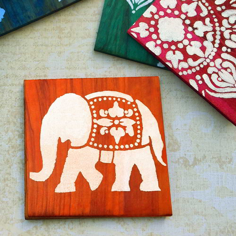 Learn to make gifty DIY Coasters. We'll show you how to apply Ultra Dye and how to stencil natural wood coasters. This tutorial is fun and easy!