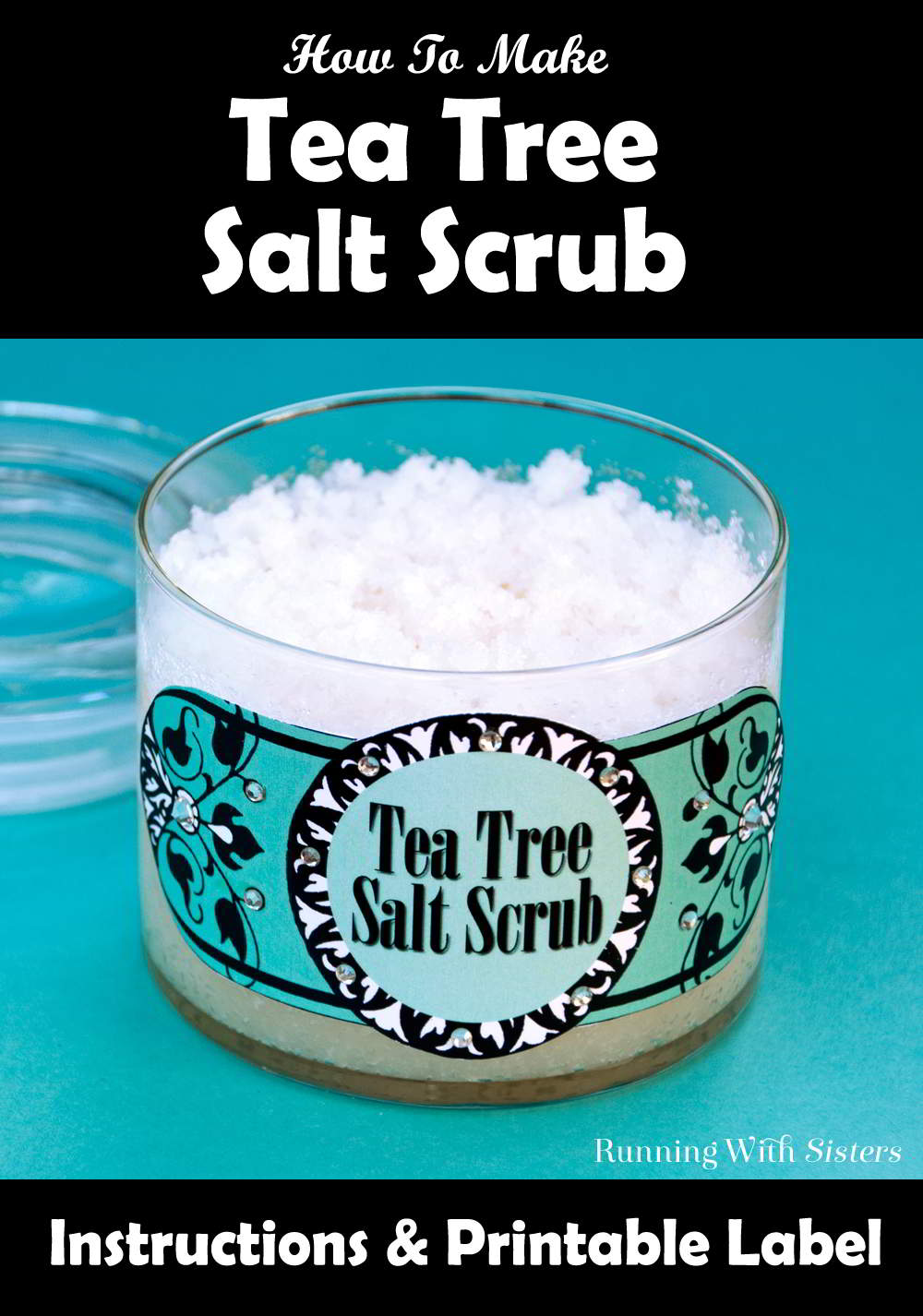 Make an easy gift with this Salt Scrub spa craft complete with recipe and printable label.