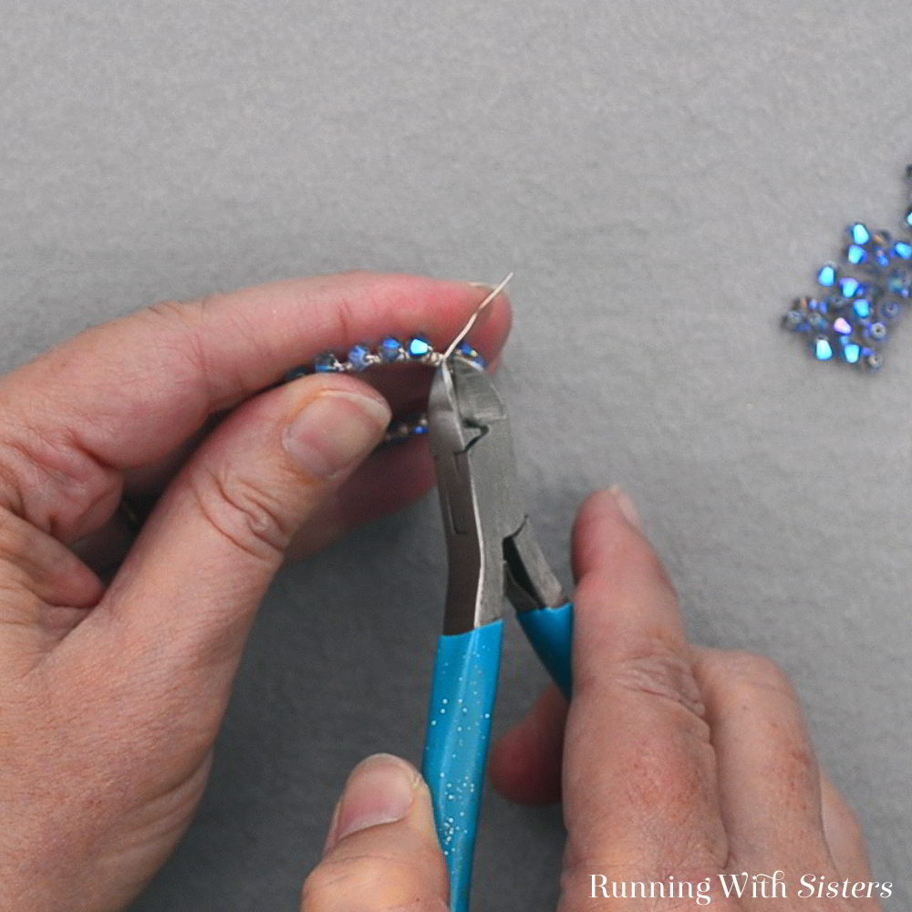 Make a pair of gorgeous Tanzanite Crystal Wrapped Hoops. These earrings are so easy a beginner can make them. And they go together fast. We'll show you how!