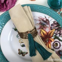 Make a set of DIY Beaded Napkin Rings with handmade tassels. It's easy! We'll show you every step!