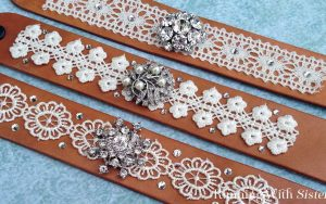 Leather And Lace Cuff Bracelet