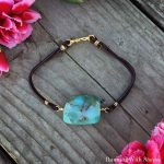 Gemstone Leather Friendship Bracelet