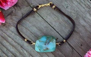 Gemstone Leather Friendship Bracelet