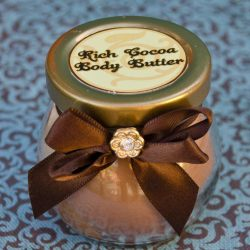 Learn to make DIY Cocoa Body Butter. We'll share our favorite body butter recipe and a cute idea for packaging this handmade gift!