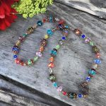Crystal Kaleidoscope: Colorful Crystal Necklace