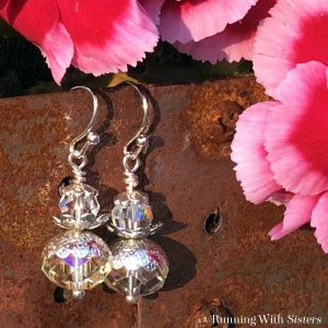 Make these stunning Crystal Bead Cap Earrings in just a few easy steps. Gorgeous handmade gift for a friend or yourself! Video tutorial included!