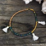 Crystal And Tassel Friendship Bracelet