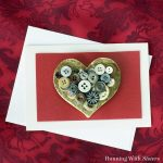 Vintage Button Valentine's Day Card